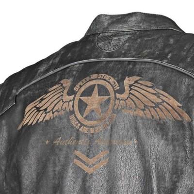 Skórzana kurtka np. z ulubioną grafiką