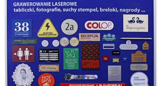 Katalog dostępnych kolorów materiałów