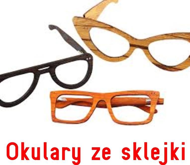 okulary ze sklejki
