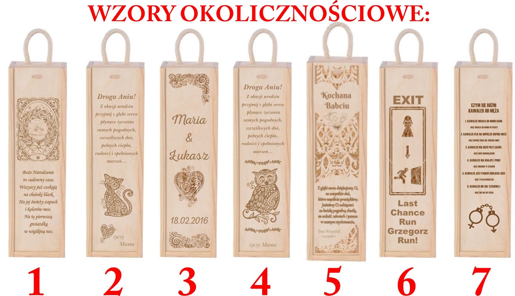 Skrzynka Na Wino Printy Poland